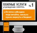 Электронный журнал Платные услуги учреждения