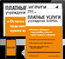 Комплект Платные услуги учреждения
